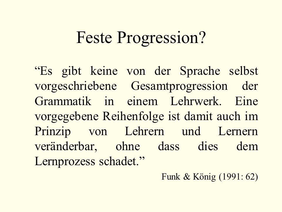 Feste Progression.