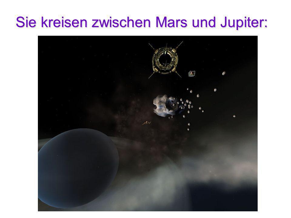 Sie kreisen zwischen Mars und Jupiter:
