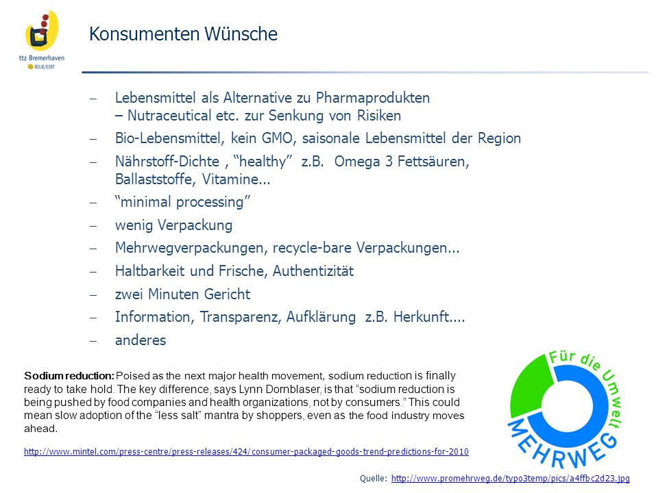 Konsumenten Wünsche Lebensmittel als Alternative zu Pharmaprodukten – Nutraceutical etc.