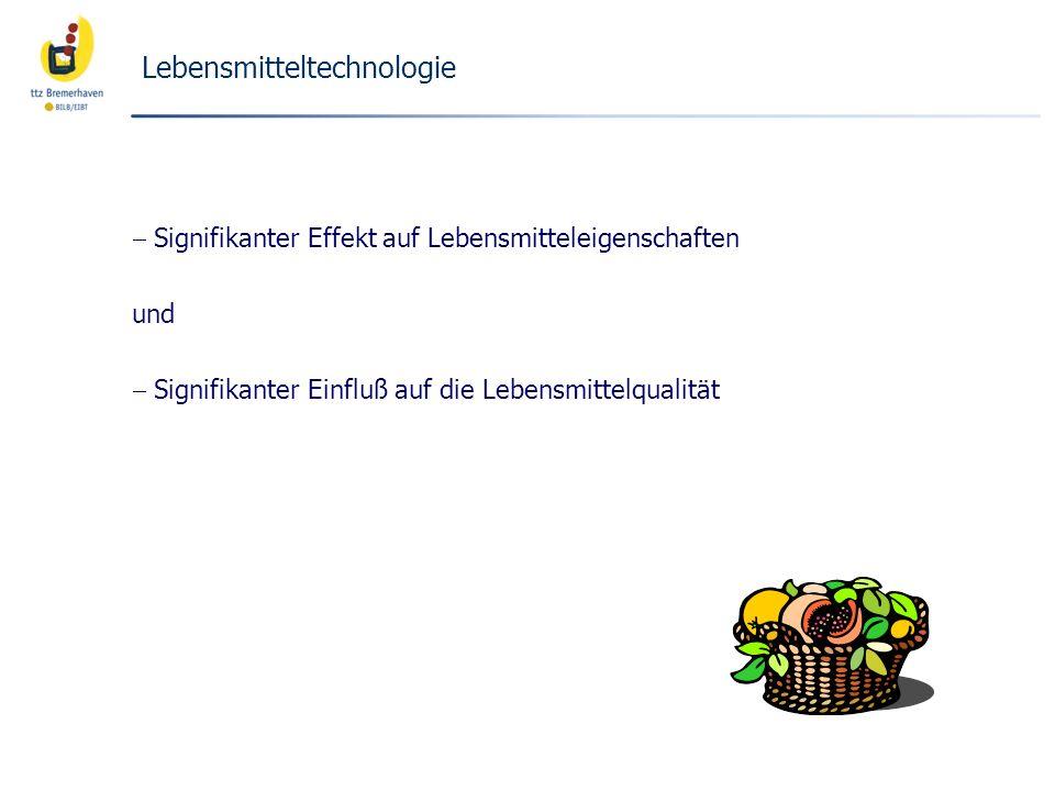 Neuartige Ingredients Ingredients (Auswahl) Enzyme: z.B.