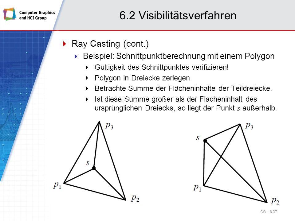 6.2 Visibilitätsverfahren CG – 6.37