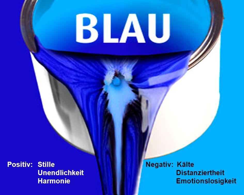 7.11.2010 Layout- und Farbgestaltung 42 Negativ: Kälte Distanziertheit Emotionslosigkeit Positiv: Stille Unendlichkeit Harmonie