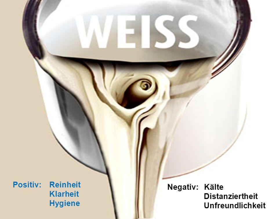 7.11.2010 Layout- und Farbgestaltung 49 Positiv: Reinheit Klarheit Hygiene Negativ: Kälte Distanziertheit Unfreundlichkeit