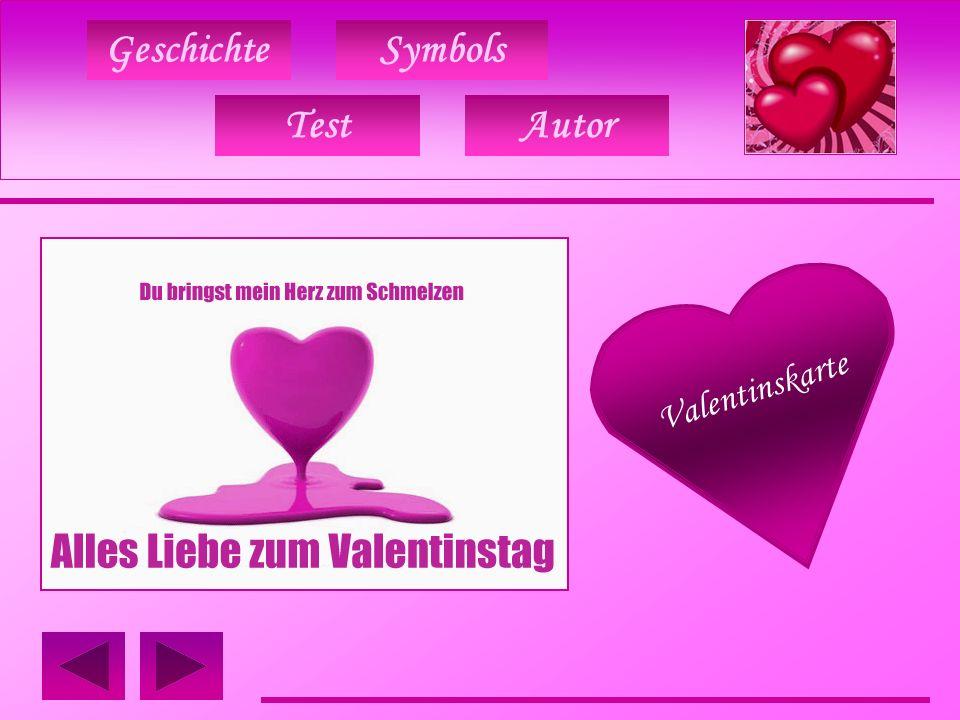 Geschichte TestAutor Symbols Valentinskarte