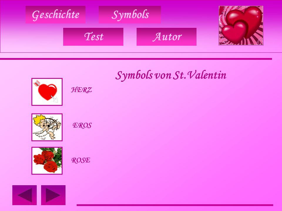 GeschichteSymbols Symbols von St.Valentin TAUBEN RINGE HANDSCHUE TestAutor