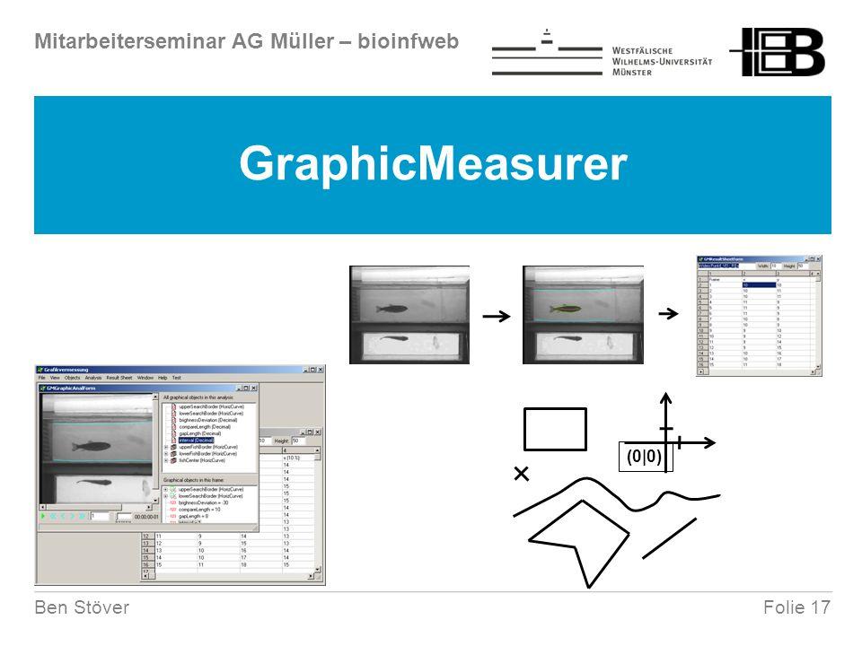 Mitarbeiterseminar AG Müller – bioinfweb Folie 17Ben Stöver GraphicMeasurer (0|0)