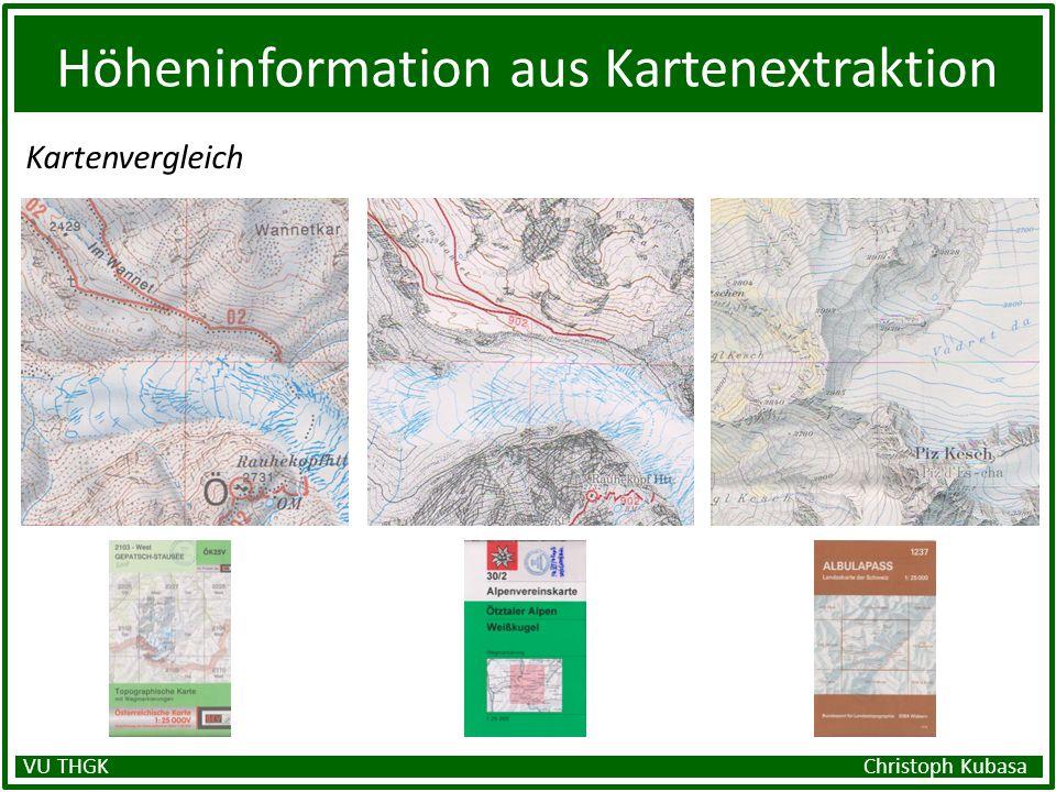 Höheninformation aus Kartenextraktion Kartenvergleich VU THGK Christoph Kubasa