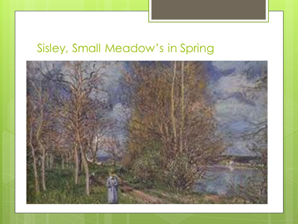 Sisley, Small Meadows in Spring