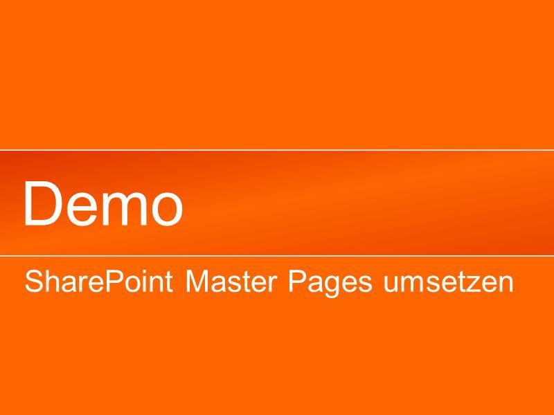Demo SharePoint Master Pages umsetzen