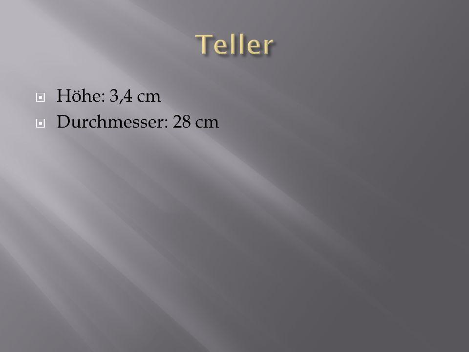 Höhe: 3,4 cm Durchmesser: 28 cm