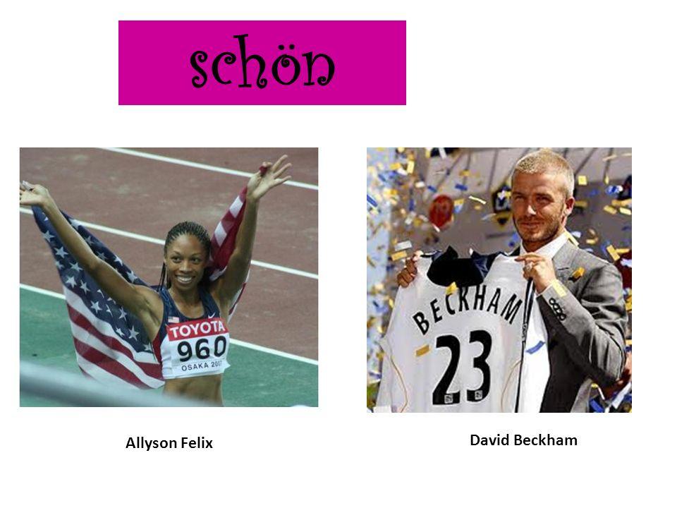 schön Allyson Felix David Beckham