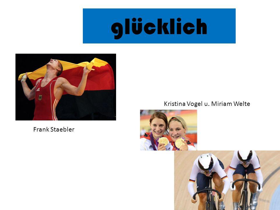 glücklich Kristina Vogel u. Miriam Welte Frank Staebler