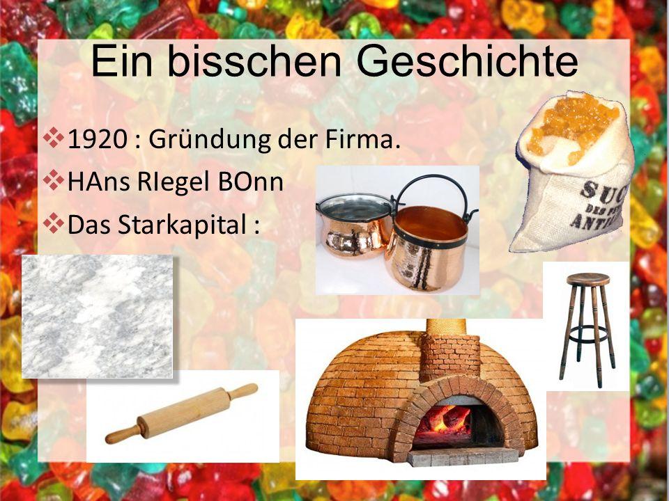 Ein bisschen Geschichte 1920 : Gründung der Firma. HAns RIegel BOnn Das Starkapital :