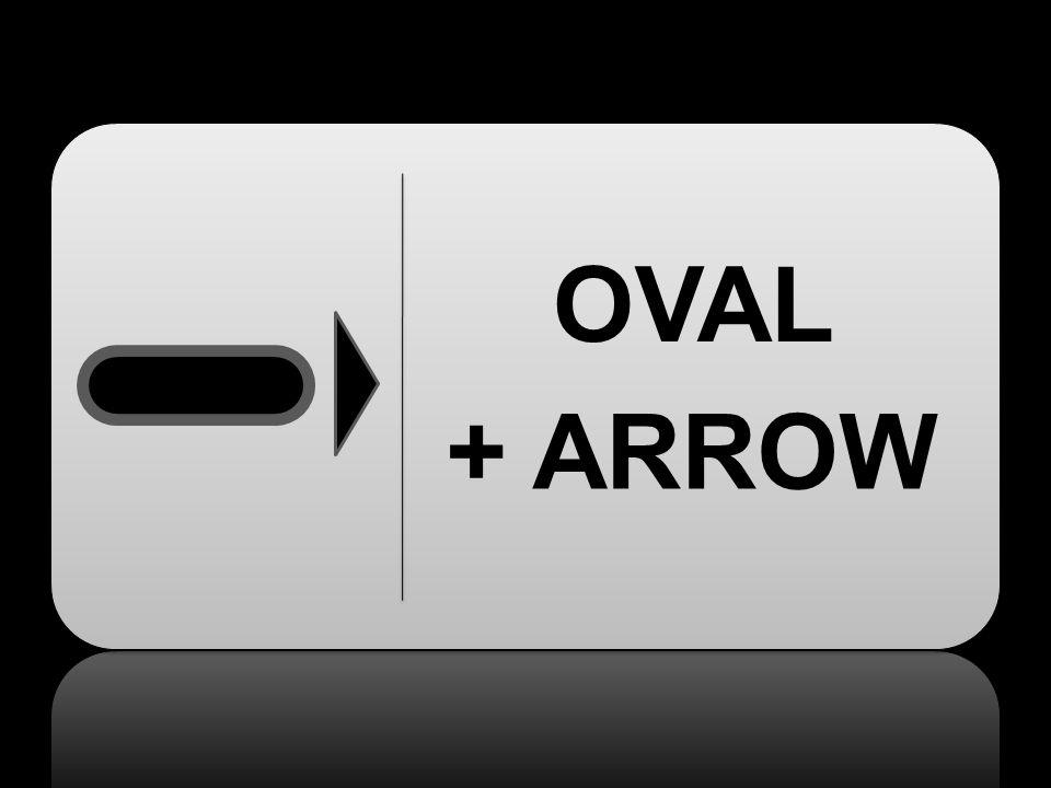 + ARROW OVAL