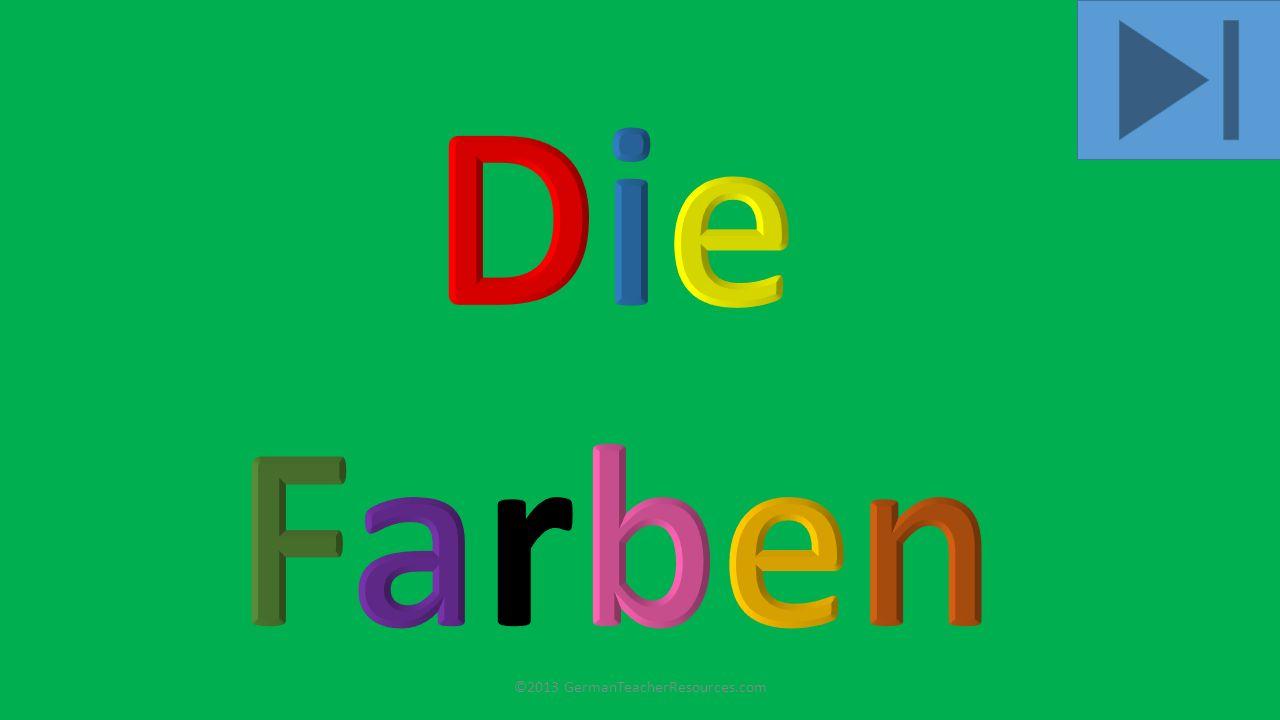 grün ©2013 GermanTeacherResources.com
