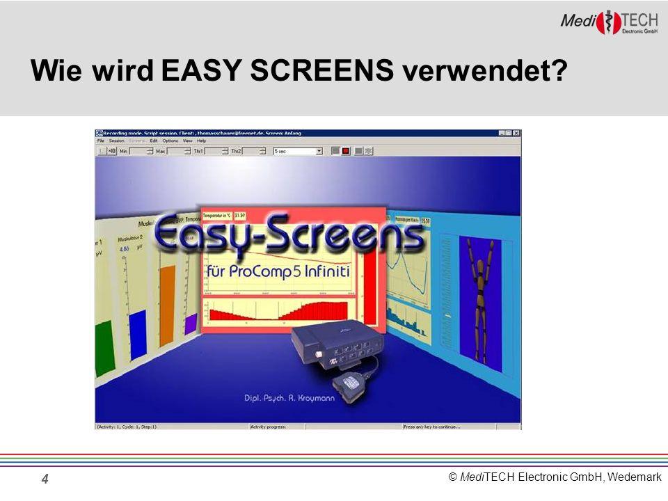 © MediTECH Electronic GmbH, Wedemark 15 Kombinationsmöglichkeiten Für eine Sitzung können bis zu 6 Signale miteinander kombiniert werden.