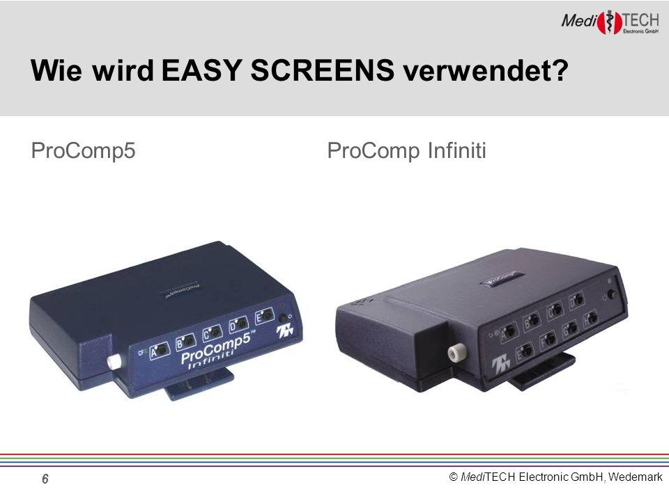 © MediTECH Electronic GmbH, Wedemark 17 Kombinationsmöglichkeiten Der Enkoder ProComp5 ist mit 5 Kanälen ausge- stattet und bietet daher nicht die Möglichkeit 6 Signale miteinander zu kombinieren.