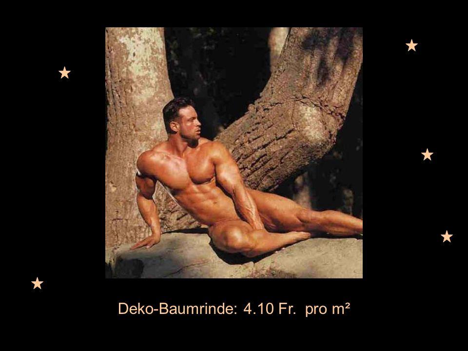 Deko-Baumrinde: 4.10 Fr. pro m²