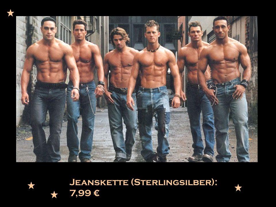 Jeanskette (Sterlingsilber): 7,99