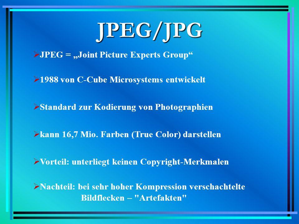 Beispiel http://mitglied.lycos.de/rosedernachtpage Größe: 9,1 KB bei Vergrößerung: Artefakten