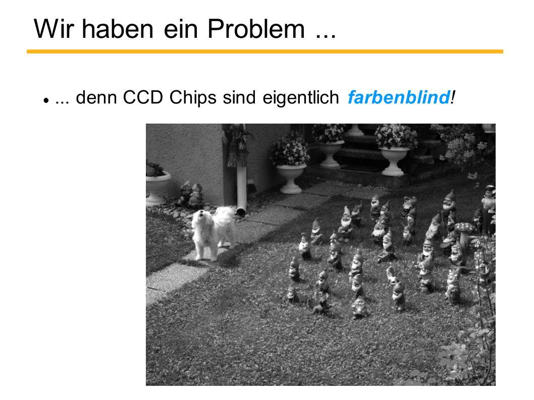 Wir haben ein Problem...... denn CCD Chips sind eigentlich farbenblind!
