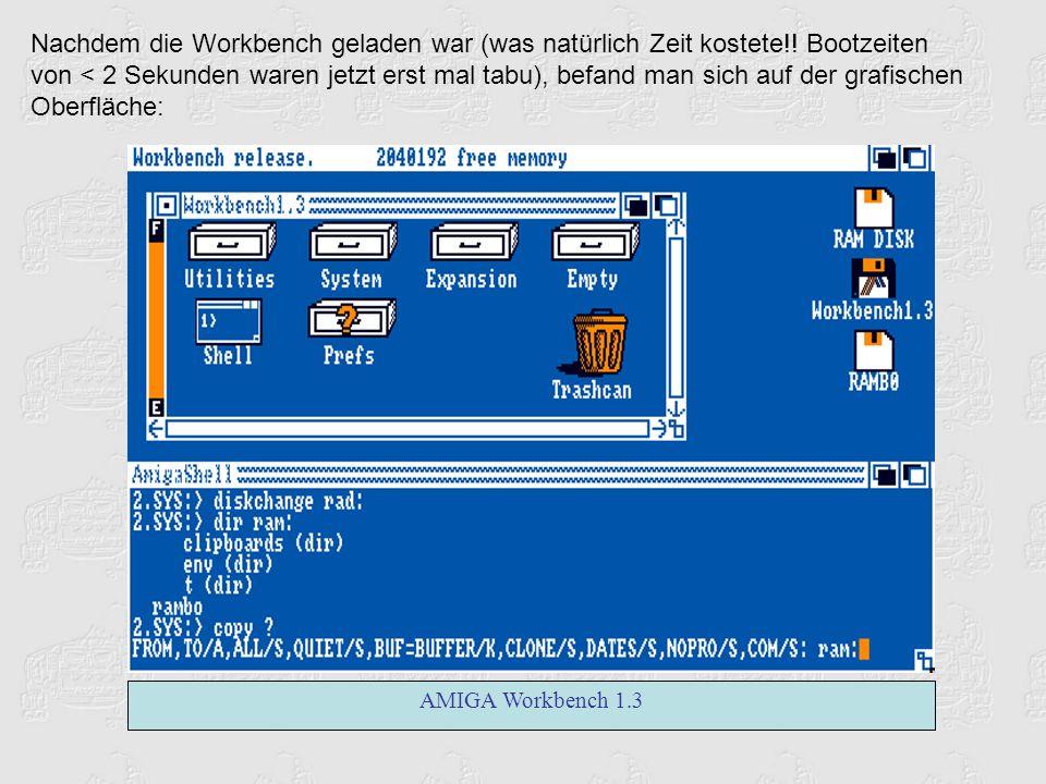 Doch die Daten sprachen für sich: 68020 CPU 16 MHz AT-Bus Schnittstelle 2 Mbyte Chipmem eingebaute 3 1/2 Zoll Floppy Kickstart 3.1 Workbench 3.0 wurde erstmalig eine Harddisk reingequetscht, dank der AT-Bus Schnittstelle kein Problem mehr (in den alten Modellen gab es meistens nur teure SCSI Lösungen).