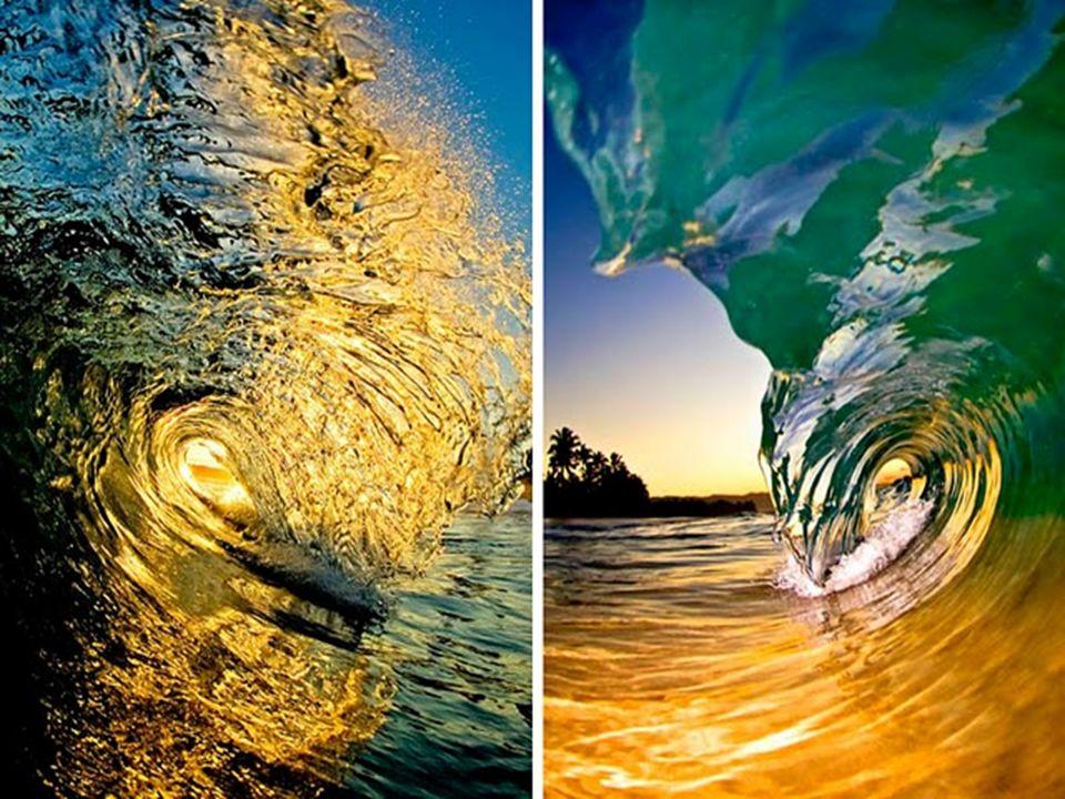 Blick aus dem Inneren einer Welle.