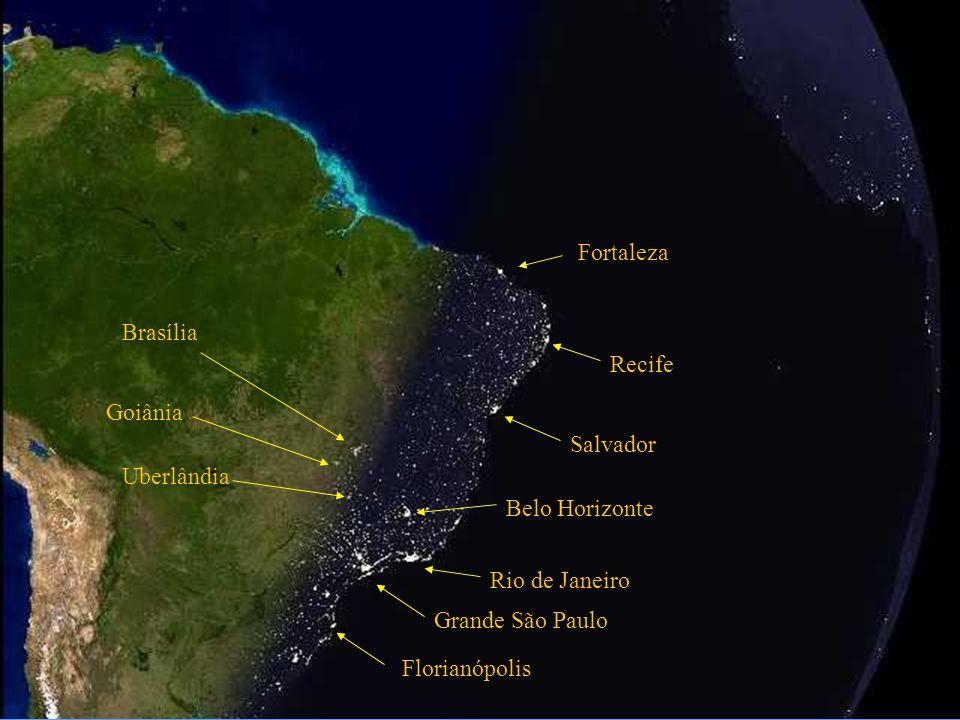 Atlantischer Ozean Salvador Rio de Janeiro Grand São Paulo Belo Horizonte