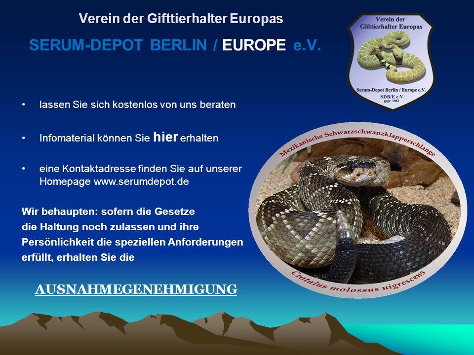 lassen Sie sich kostenlos von uns beraten Infomaterial können Sie hier erhalten eine Kontaktadresse finden Sie auf unserer Homepage www.serumdepot.de
