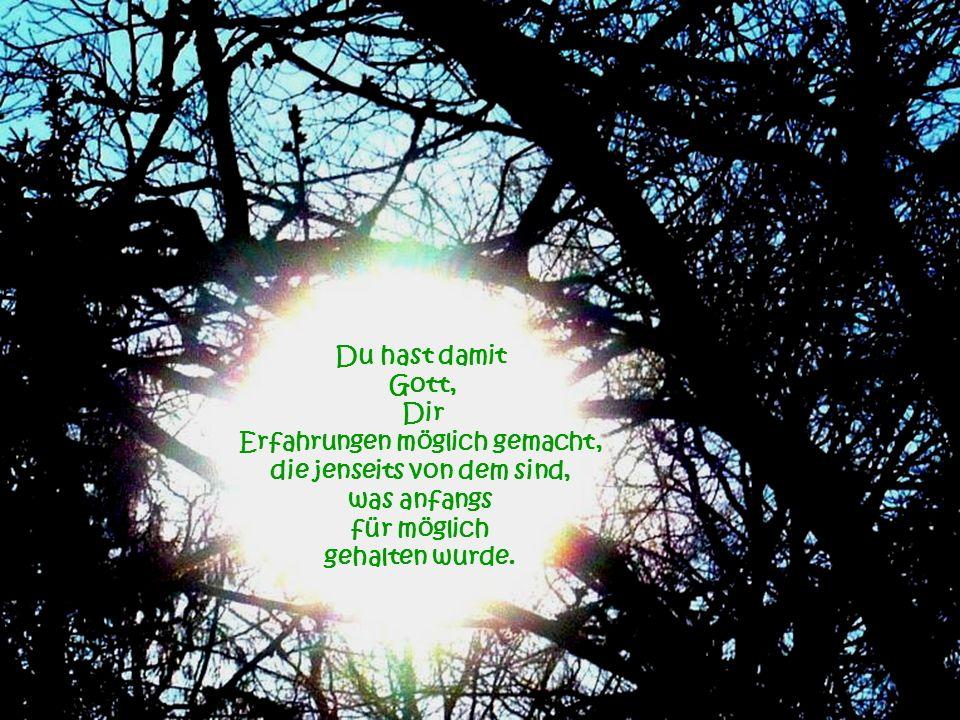 Es beginnt bei jedem einzelnen Bewusstsein ja, auch bei Dir und dehnt sich dann im Großen aus...