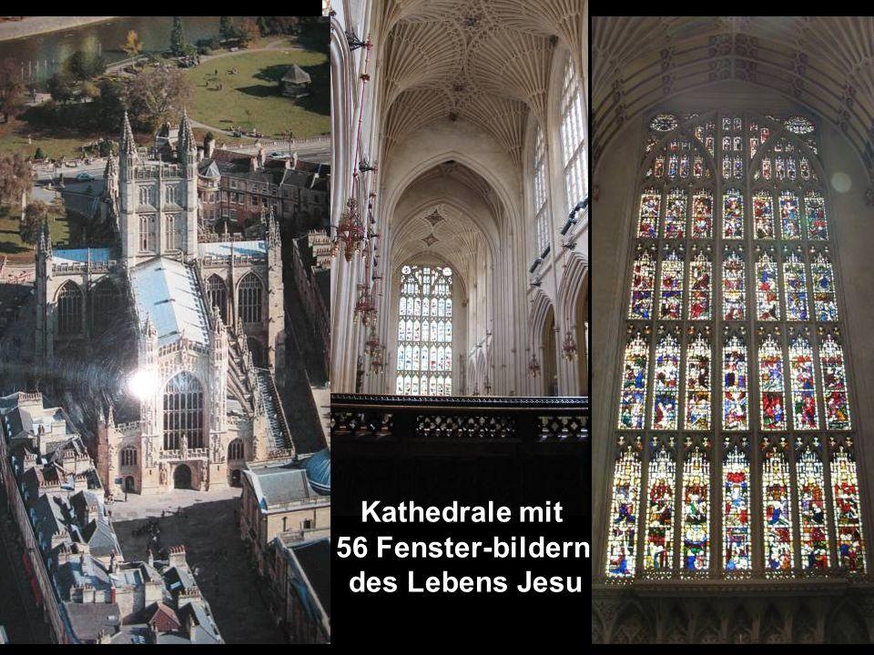 Kathedrale mit 56 Fenster-bildern des Lebens Jesu