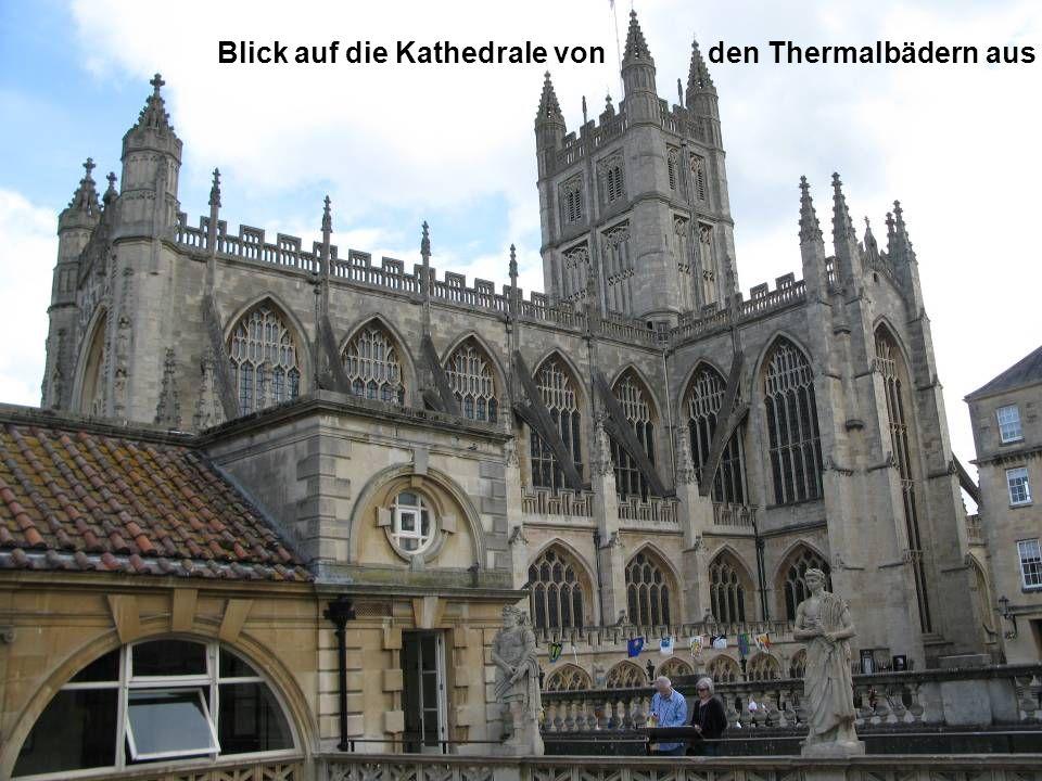 Blick auf die Kathedrale von den Thermalbädern aus