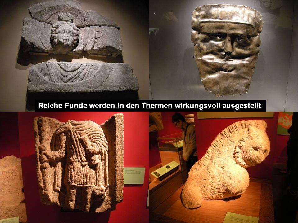 Reiche Funde werden in den Thermen wirkungsvoll ausgestellt