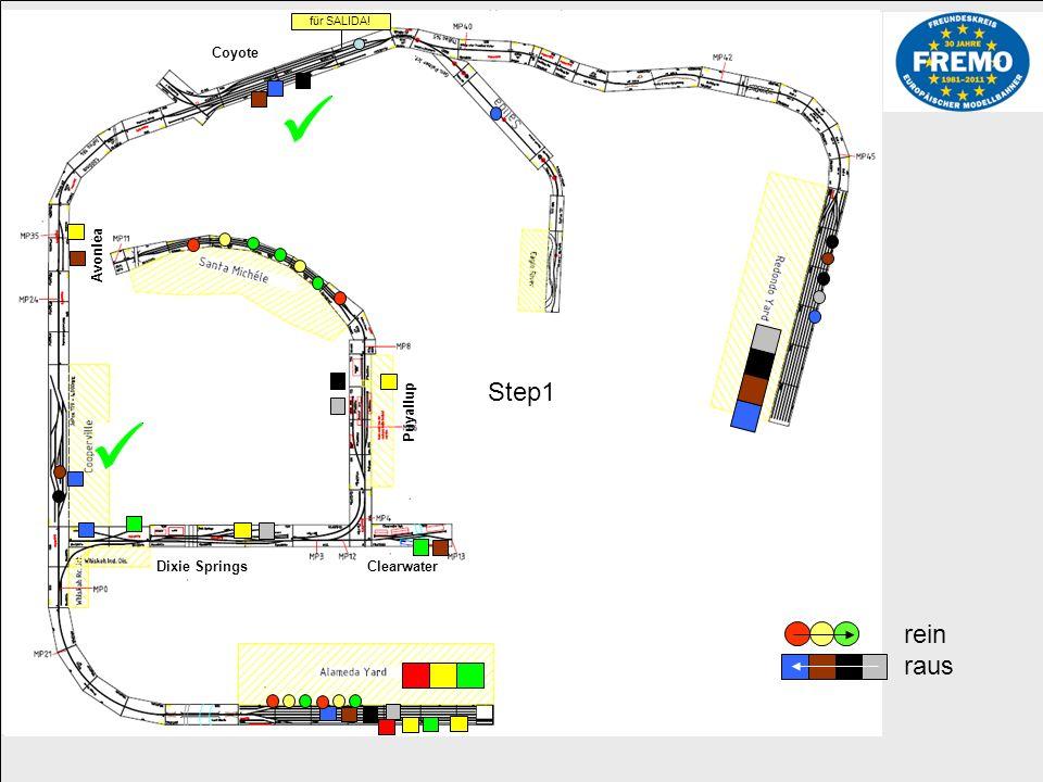 Step2 Industriegebiet Whiska Road und Dixie Springs von Alameda aus versorgen mit neuen Waggons.