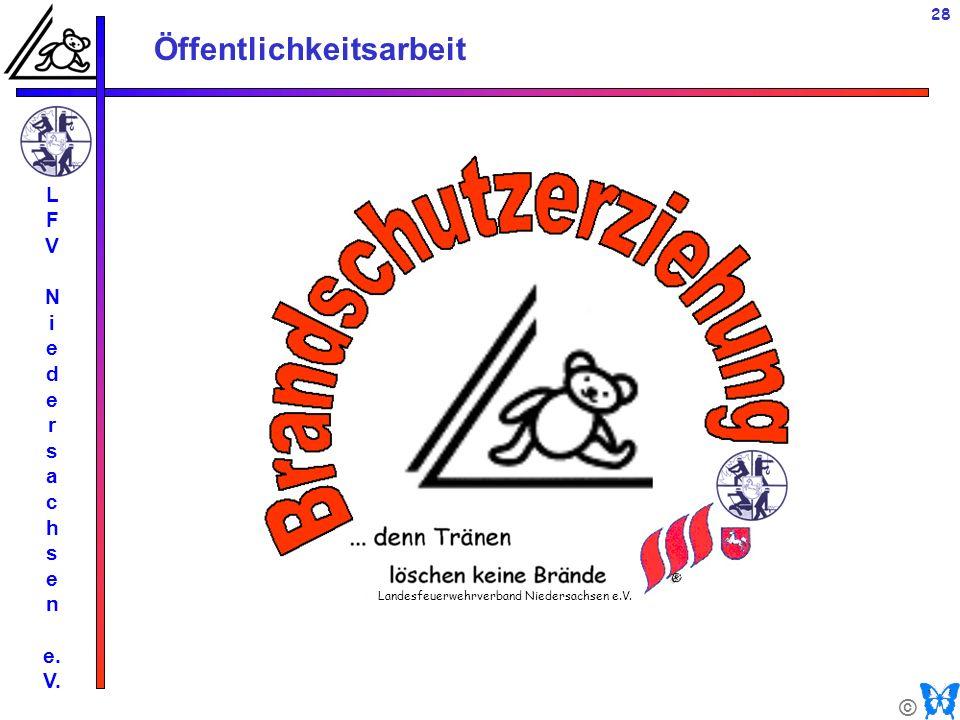 © Öffentlichkeitsarbeit L F V N i e d e r s a c h s e n e. V. 28 Landesfeuerwehrverband Niedersachsen e.V.