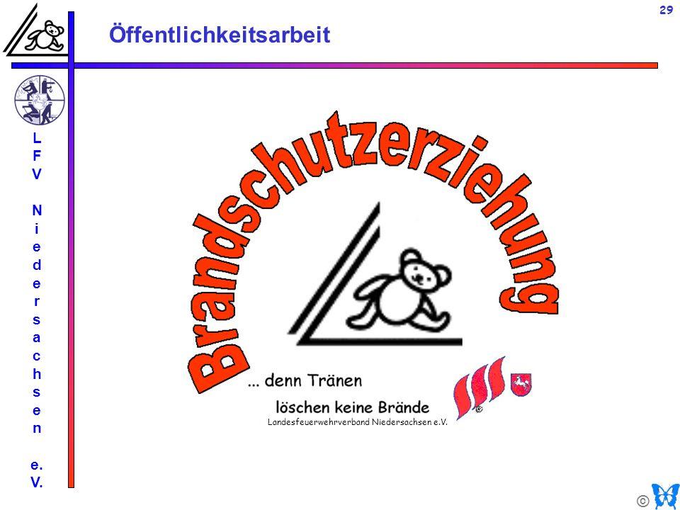 © Öffentlichkeitsarbeit L F V N i e d e r s a c h s e n e. V. 29 Landesfeuerwehrverband Niedersachsen e.V.
