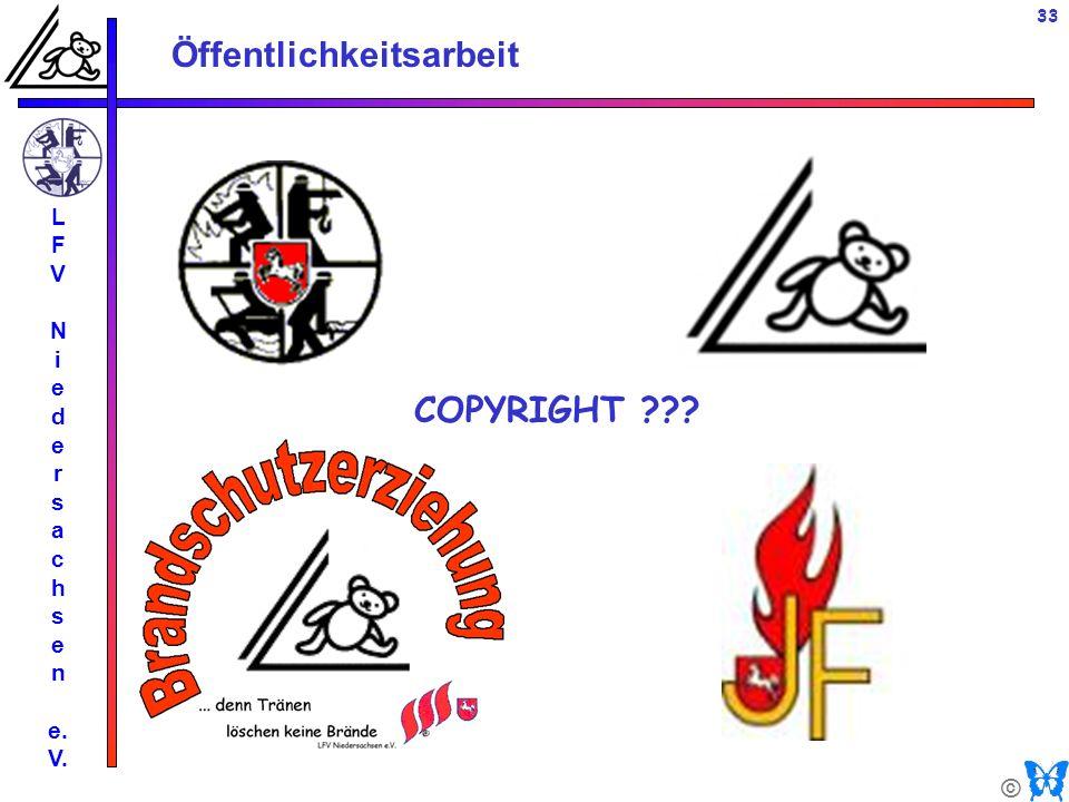 © Öffentlichkeitsarbeit L F V N i e d e r s a c h s e n e. V. 33 COPYRIGHT ???