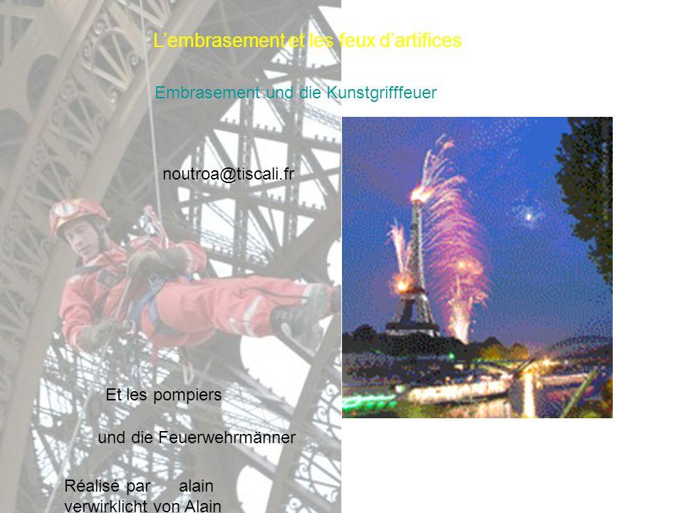 Lembrasement et les feux dartifices Embrasement und die Kunstgrifffeuer Et les pompiers und die Feuerwehrmänner