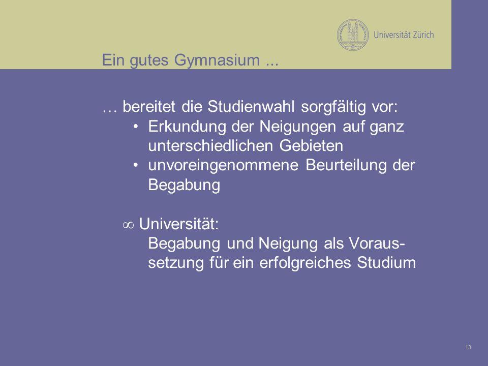 13 Ein gutes Gymnasium...