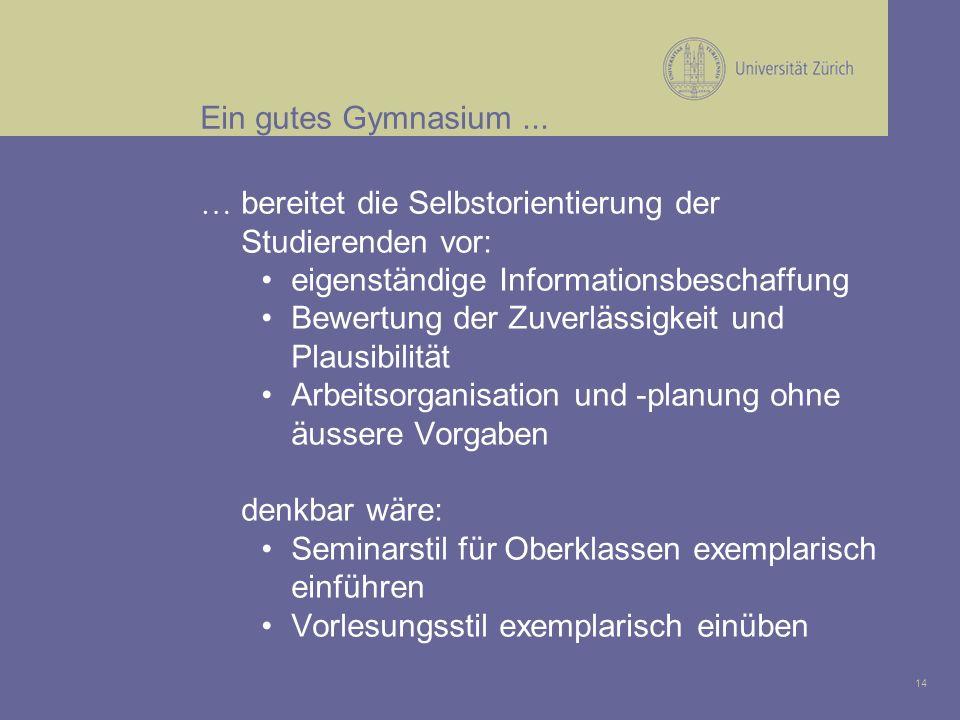 14 Ein gutes Gymnasium...