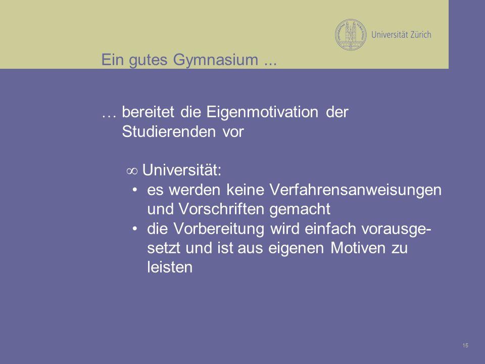15 Ein gutes Gymnasium...