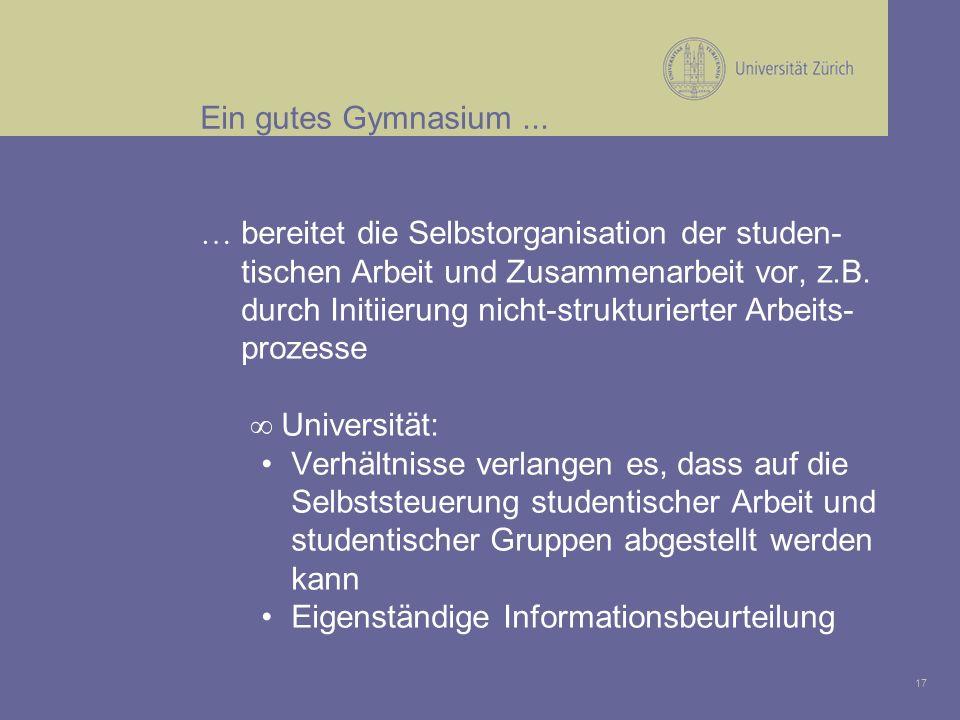 17 Ein gutes Gymnasium...