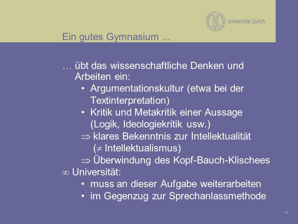 18 Ein gutes Gymnasium...