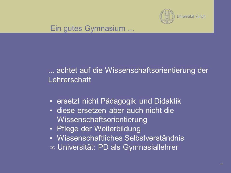 19 Ein gutes Gymnasium...