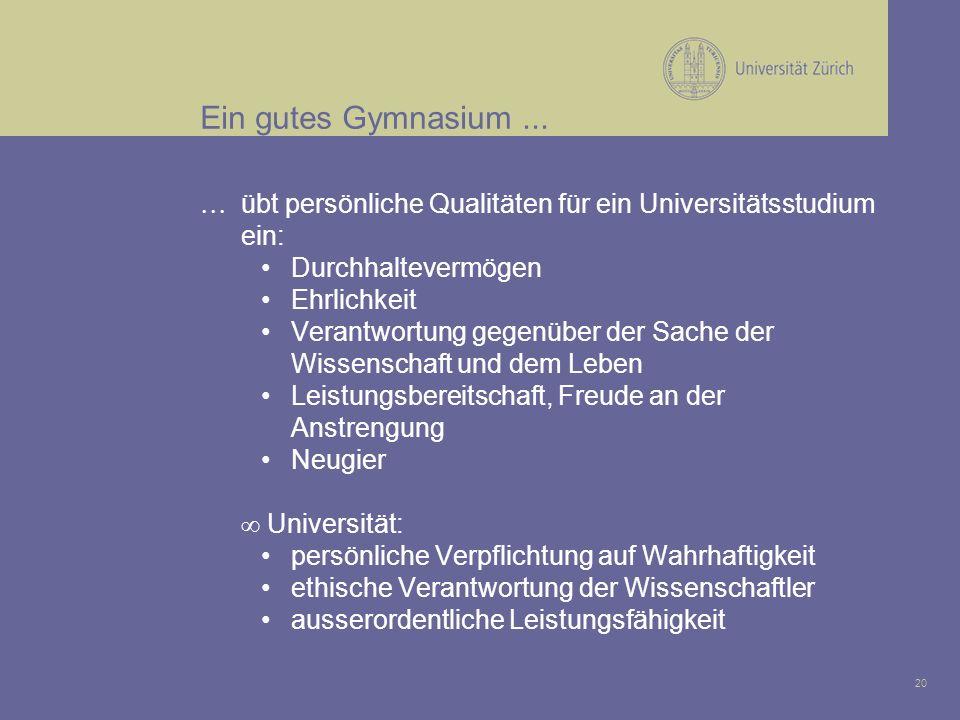 20 Ein gutes Gymnasium...