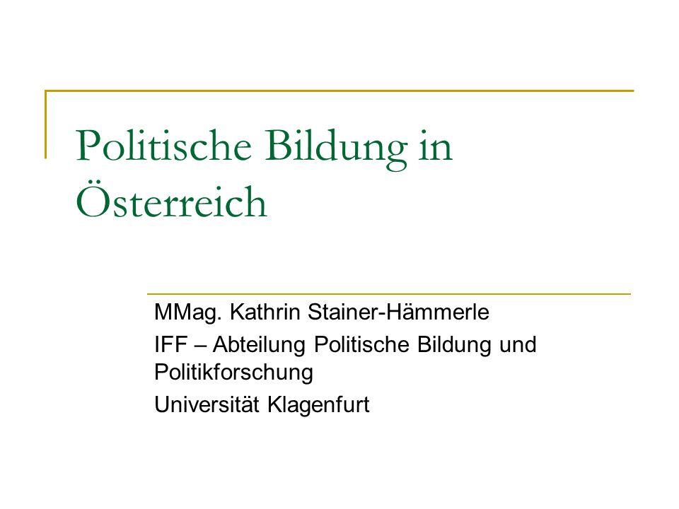 Politische Bildung in Österreich MMag.
