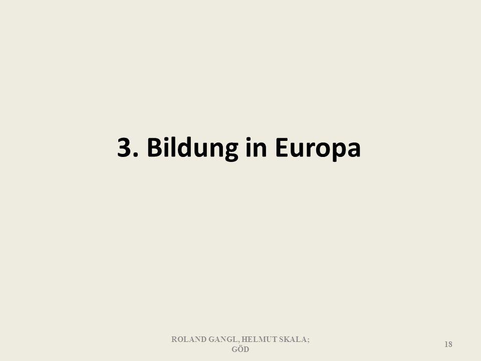 3. Bildung in Europa ROLAND GANGL, HELMUT SKALA; GÖD 18