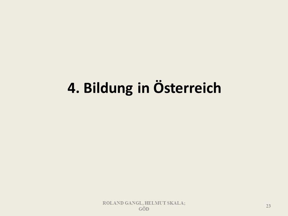 4. Bildung in Österreich ROLAND GANGL, HELMUT SKALA; GÖD 23