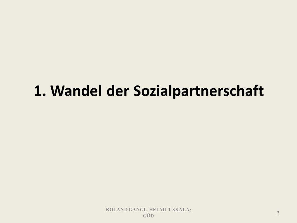 1. Wandel der Sozialpartnerschaft ROLAND GANGL, HELMUT SKALA; GÖD 3