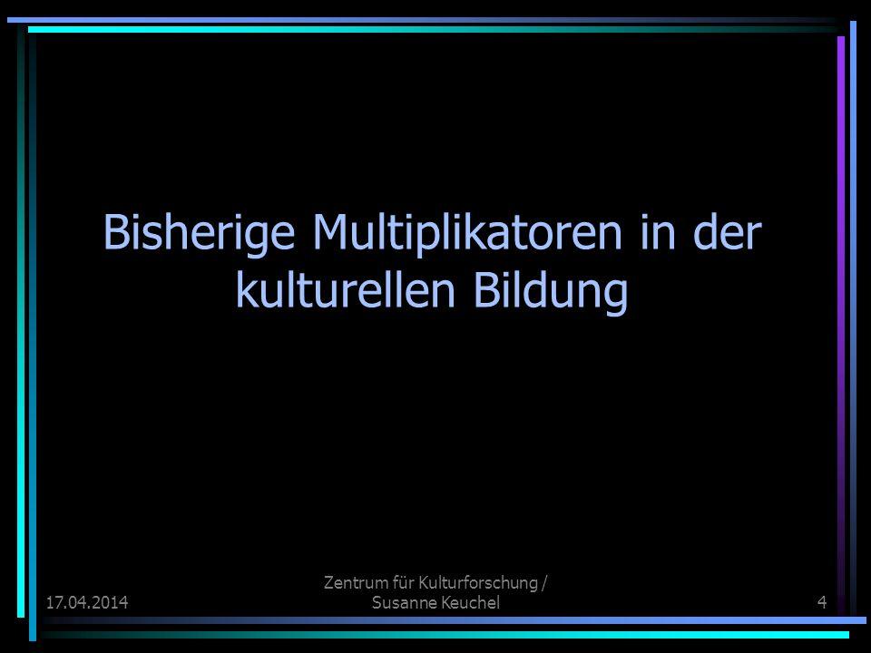 17.04.2014 Zentrum für Kulturforschung / Susanne Keuchel35 Eltern als Vermittler u.